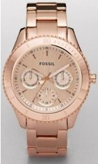 Fossil Stella Plated Stainless Steel Watch - Rose