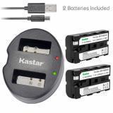 CARGADOR DE BATERÍA KASTAR NP-F570 para Sony NP-F330 F550 F570 Cámaras de montaje en V de luz LED