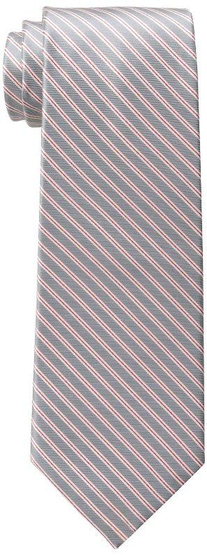 Corbata Tommy Hilfiger  para hombres con doble línea delgada color gris un solo tamaño