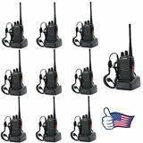 PAQUETE DE 10 BAOFENG BF-888S 1500 MAH RADIO BIDIRECCIONAL WALKIE TALKIE TRANSCEPTOR