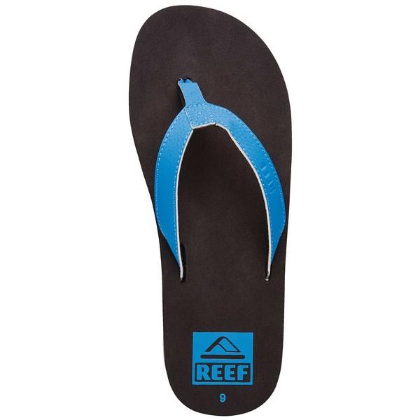 SANDALIAS REEF SLIM SMOOTHY (NEON BLUE) HOMBRES 10.0M US (AZUL-NEGRO)