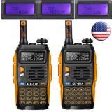 2X BAOFENG GT-3TP MARK III V/UHF 1/4/8W FM WALKIE Talkie Ham Radio bidireccional> GT1