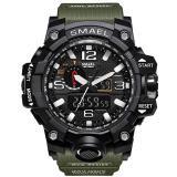 RELOJ KXAITO PARA HOMBRES - Deportes al aire libre impermeable Reloj militar Fecha multifunción Militar Alarma LED Cronómetro (Verde)