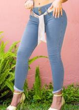 JEANS GLAM PARA MUJER SKINNY (PUSH UP CUT) (Color BLUEBELL, Talla 10)