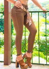 JEANS GLAM PARA MUJER SKINNY (PUSH UP CUT) (Color CHOCOCHIC, Talla 8)