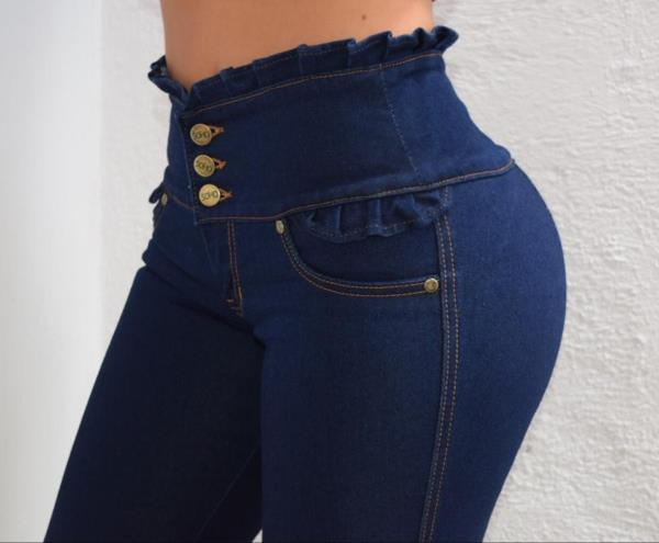 Jeans Glam Para Mujer Skinny Push Up Cut Linea Soho Color Azul Indigo Talla 6