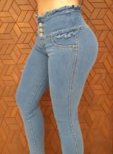 JEANS GLAM PARA MUJER SKINNY (PUSH UP CUT) (LINEA SOHO)(Color LIGHT BLUE, Talla 4)