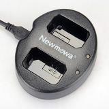NEWMOWA CARGADOR DOBLE USB PARA SONY NP-FW50 Y ALPHA a3000, Alpha a5000, Alpha a6000, A6300, Alpha 7, a7, Alpha 7R, a7R, Alpha 7S, a7S, NEX-3, NEX-3N, NEX-5, NEX- 5N, NEX-5R, NEX-5T, NEX-6, NEX-7, NEX-C3, NEX-F3, SLT-A33, SLT-A35, SLT-A37, SLT-A55V, Cyber-shot DSC-RX10