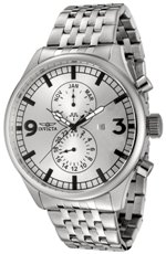 Invicta Men's 0366 II Collection Multi-Function Stainless Steel Watch